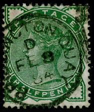 SG164, ½d deep green, FINE USED, CDS. Cat £22.