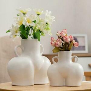 Nordic Vase Body Bum Nude Female Abstract Vase Handicraft Ornaments Art R0W7