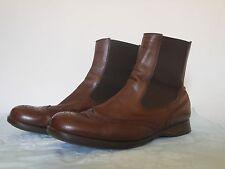 Chelsea boots HOGAN scarpe stivaletti donna misura 41 pelle marrone decorata