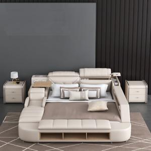 Genuine Leather. Smart  Multi functional High luxury Modern Massage Bed