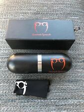 Spectacle Eyeworks clamshell eyeglasses case and cloth