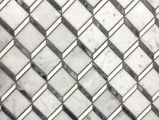 Carrara Thassos Marble Steps 3D Mosaic Wall Floor Tile Backsplash Bath Kitchen