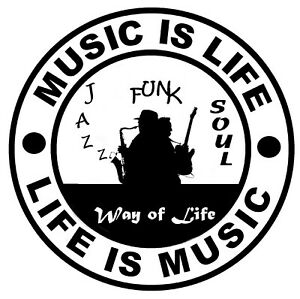 Musique If Life (Jazz Musique) - Fun Voiture/Fenêtre Stickers/Autocollant +1
