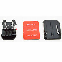 3 in1 Black Curved Surface Adhesive Buckle Basic Mount F/ GoPro Hero 3+ 3 SJ4000