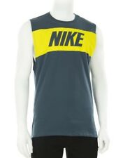 Nike Tee Retro Logo Vest Muscle Tank top Teal Yellow 834733-464 Small S