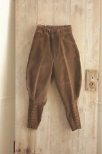 Vintage trousers French pants Riding breeches Equestrian brown cords corduroy 27