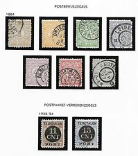 Netherlands stamps 1884/1924 NVPH PW1-PW7+PV1-PV2  CANC  VF  Cat Value $650
