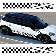 2PCS Auto Car Body Sides Decor Decals Stickers Lattice For MINI Cooper Universal