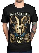 Official Black Veil Brides Etched T-Shirt BVB Rock Band Church Wild Ones Skull