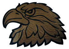 Large Brown Hawk Eagle Head Motorcycles Embroidered Iron on Patch Free Shipping