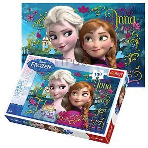 Trefl 100 Piece Kids Girls Disney Frozen Anna Elsa Sisters Jigsaw Puzzle NEW