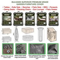 BULHAWK® WATERPROOF SUPERIOR QUALITY GARDEN OUTDOOR TABLE BENCH FURNITURE COVER