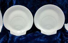 "Wedgwood Nautilus Collection (Glossy) Bone China 9"" Shell Salad Plate Set of 2"