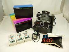 Vintage POLAROID 440 Land Camera In Case With 490 Focused Flash