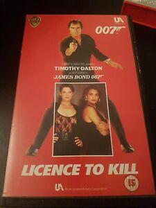 LICENCE TO KILL BOND 007 WARNER HOME VIDEO - EX RENTAL BIG BOX VHS