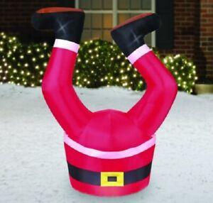 Holiday Time Santa Legs Yard Inflatables, 3.5' nib