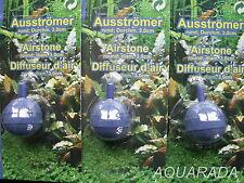 3St.Ausströmerstein rund  für Durchlüfterpumpen 4/6mm Ausströmerstein Aquarium