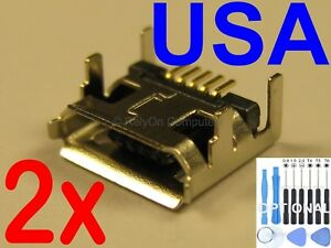2x Lot of Micro USB Charging Port Sync for Acer Iconia A200 A210 A500 Tablet USA