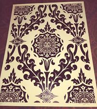SHEPARD FAIREY / OBEY 'Parlor Pattern Cream - BLACK', 2010 SIGNED Ltd. Ed. Print