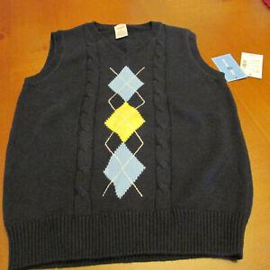 Gymboree sweater vest,size 5T,Navy,NWT