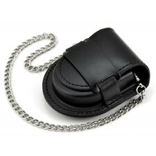 Fashion Male Black and Brown Vintage Classic Pocket Watch Box Holder With Chain