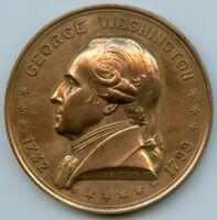 1932 GEORGE WASHINGTON BIRTH BICENTENNIAL FRENCH ART DECO MEDAL BY BAZOR 68mm