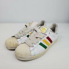 Adidas Superstar Rasta Sneakers Size 11 White Red Green Yellow