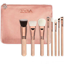 8PCS ZOEVA Rose Golden Makeup Cosmetic Complete Eye Set Powder Brushes with Bag
