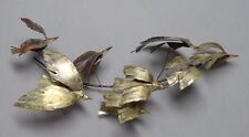 1967 Signed Curtis Jere Brass And Copper Birds In Flight Wall Sculpture