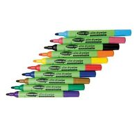 Show Me Drywipe Pens Medium Tip Assorted Colours Pack of 10 Slim Ref: SDP10A