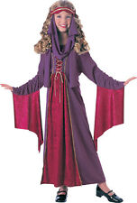 Girls GOTHIC PRINCESS Costume Dress Headpiece Child Small 4 5 6 RENAISSANCE