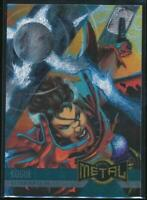 1995 Marvel Metal Trading Card #132 Rogue Acquires the Power of Thor