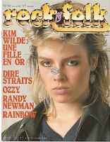 Magazine Rock & Folk # 193 kim wilde rainbow dire straits ozzy osbourne manset