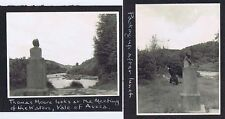 VALE OF AVOCA Co Wicklow Thomas Moore Statue - 2x Vintage Photographs 1959