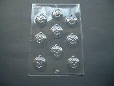9 ON 1 FUNNY PUMPKIN FACE CHOCOLATE MOULD/MOULDS/KIDS/HALLOWEEN/CUPCAKE TOPPERS
