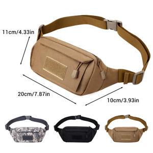 Tactical Belt Waist Pack Crossbody Shoulder Bag Adjustable Hiking Camping Pouch