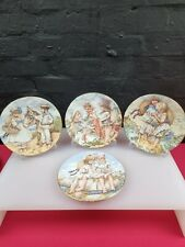 More details for royal worcester 4x seaside memories decorative plates coa