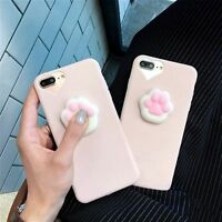 3D Cartoon Soft Cat's Paw For iPhone 6s/7 Plus Squishy Silicone Phone Case Cover