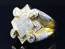 """10k Yellow Gold """"The Claw"""" Style Real Diamond Fashion Pinky Ring 1.25 Ct 21.8 MM"""