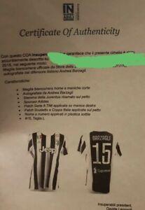 Maglia Barzagli Juventus autografata COA Insuperabili  taglia L NO MATCH WORN