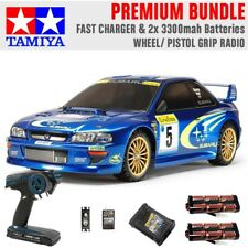 TAMIYA RC 58631 Subaru Impreza Monte Carlo TT-02 1:10 Premium Wheel Radio Bundle