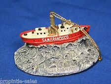 "San Fransisco Ship 1998 Spencer Collins Art~ Resin Nautical Ornament ~ 1.5"" tall"