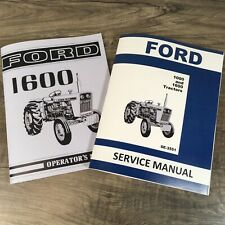 Ford 1600 Tractor Service Operators Manual Owners Repair Shop Technical Book Set