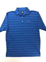 FootJoy Men's Golf Polo Shirt Blue Striped XL
