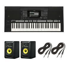 Yamaha PSR-S775 61-Note Workstation Keyboard   KRK RP5G3-NA Rokit 5 Generatio...