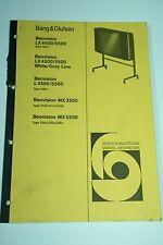 Bang & Olufsen Beovision L/LX 4500/5000 / MX 3500 / MX 5500 Service Manual