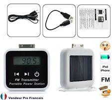 Chargeur / Batterie solaire transmetteur FM pour iPhone 2G  3G 3GS 4 iPhone
