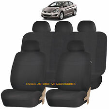 BLACK ELEGANCE AIRBAG COMPATIBLE SEAT COVER SET for HYUNDAI ELANTRA ACCENT