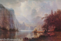 POSTER :ART:  IN THE MOUNTAINS by ALBERT BIERSTADT - FREE SHIP   #AP650   RW18 O