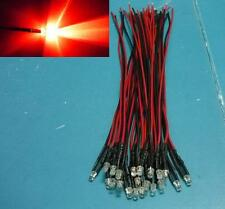 (20 PCS) 3mm Red LED Pre Wired Light 9v 5v DC 12V 20cm bulb 6v